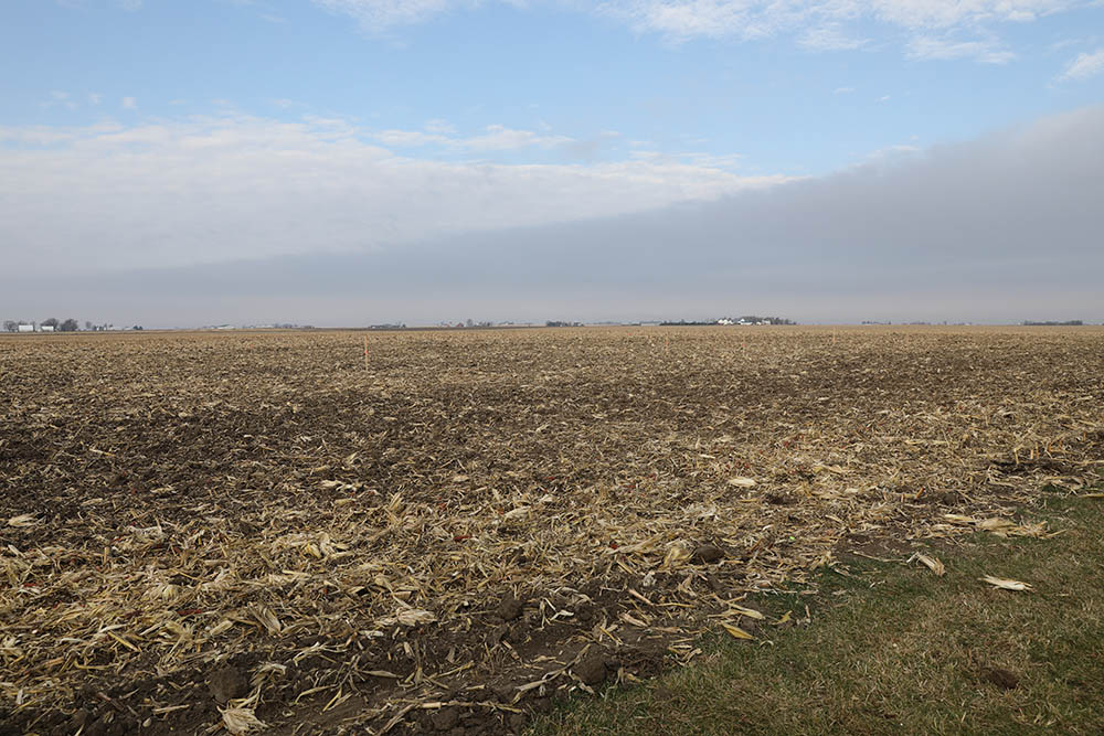 survey work for barn, located in former corn field